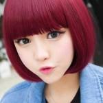 asia frauen frisuren rosa haarfarbe