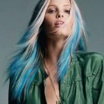 blondine blaue haaren gothic frisuren