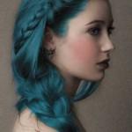 flechfrisuren blaue haaren gothic frisuren
