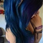 neue blaue haaren gothic frisuren