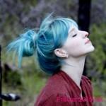 schone gothic frisuren blau haarfarben