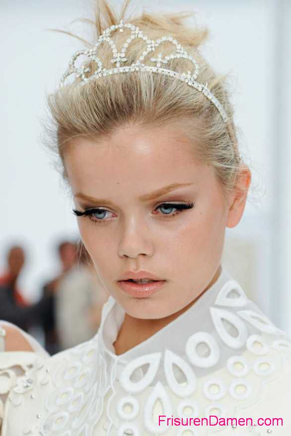 blond hochzeitsfrisuren kurze haare ideen