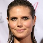 frisuren wet-look heidi klum