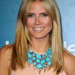 heidi klum frisuren sleek-look