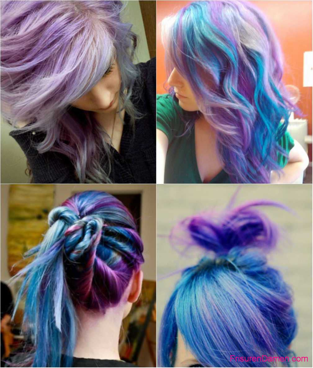 blau ombre haarfarben violet