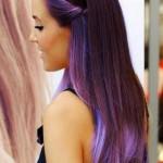 neue ombre haarfarben lila trends