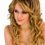 ombre frisuren mit langen lockigen haaren