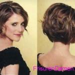 braun bob frisuren kurze geschichtete haare