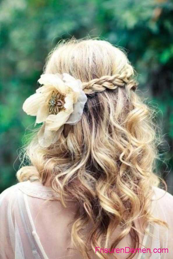 flechten oktoberfest frisuren lange haare