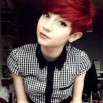 rote haare kurz frisuren