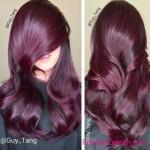 frisuren fur ombre hair lila farben
