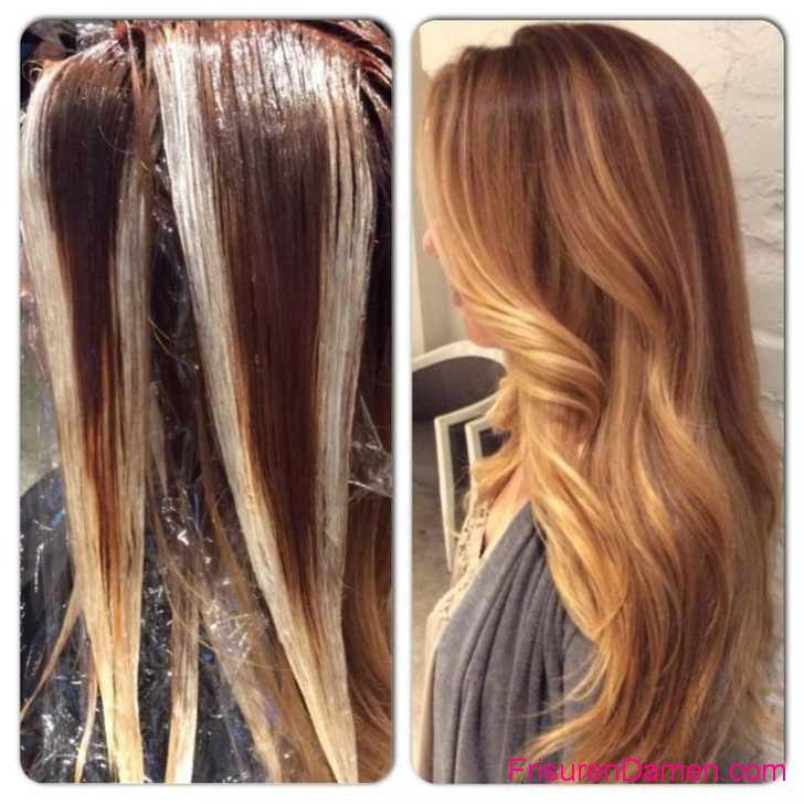 lange frisuren fur ombre hair