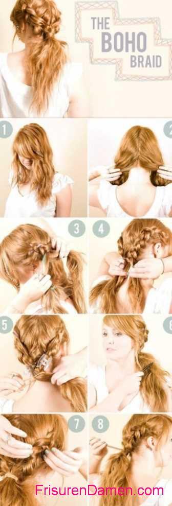 schone frisuren lange haare anleitung (3)