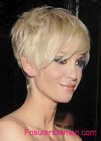 trendige frisuren kurz 2015 blondine