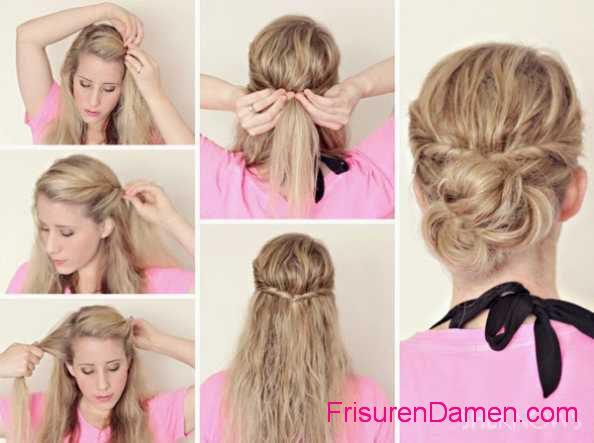 frisuren fur nasse haare anleitung