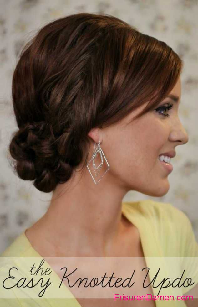 knot bun frisuren