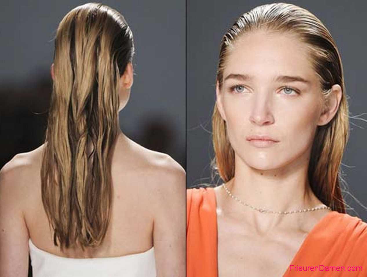 schone frisuren fur nasse haare