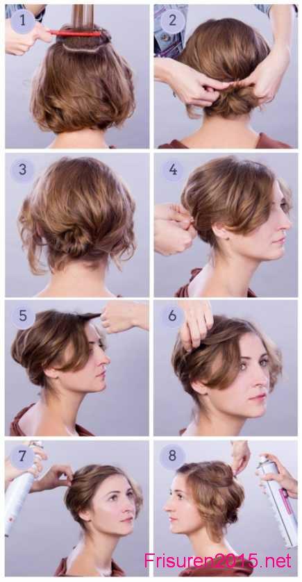 15 hochsteckfrisur schulterlange haare anleitung
