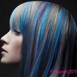 braun und blaue haarfarben trend gothic frisuren