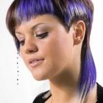 schone lila kurze haare pixie
