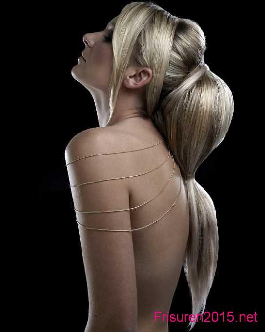 pferdeschwanz-frisuren ponytail