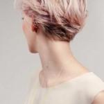 kurzhaarfrisuren rosa blond