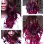 dunkel lila ombre haarfarbe
