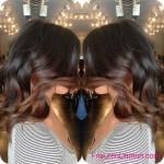 schwarz ombre hair frisuren trends