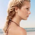 blond damen fischschwanz lange frisuren