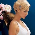 blonde hochzeitsfrisuren kurze haare selber machen