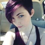 trendy kurzhaarfrisuren damen lila haarfarben