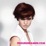 trendy kurzhaarfrisuren roten haarfarben